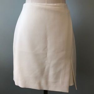 WHBM Light Cream Boot Skirt